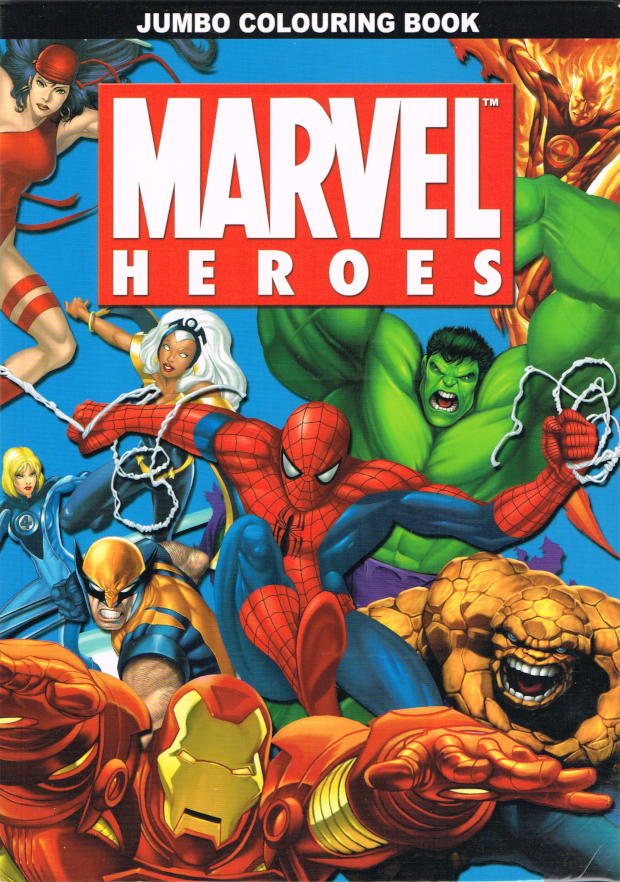 Marvel Heroes Colouring Book (Alligator) [in Comics > The Magic of ...
