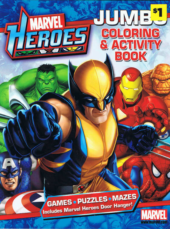 Marvel Heroes: Jumbo Coloring & Activity Book (Bendon) [in Comics ...