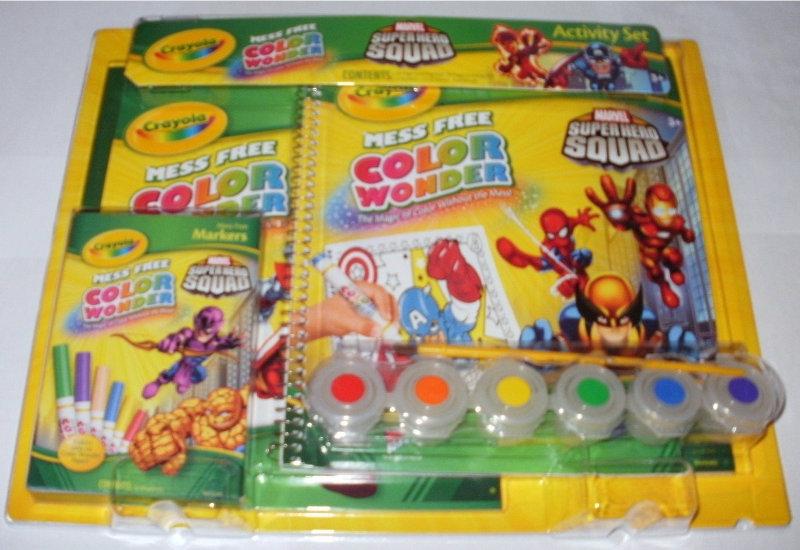 Want Marvel ColorActivity Crayola