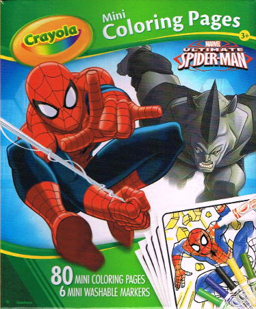 crayola ultimate spiderman mini coloring pages.html