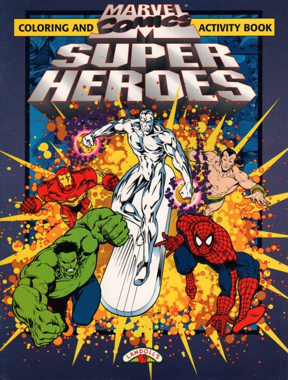 Marvel Comics Super Heroes Color/Activity (Landoll, Green) [in ...