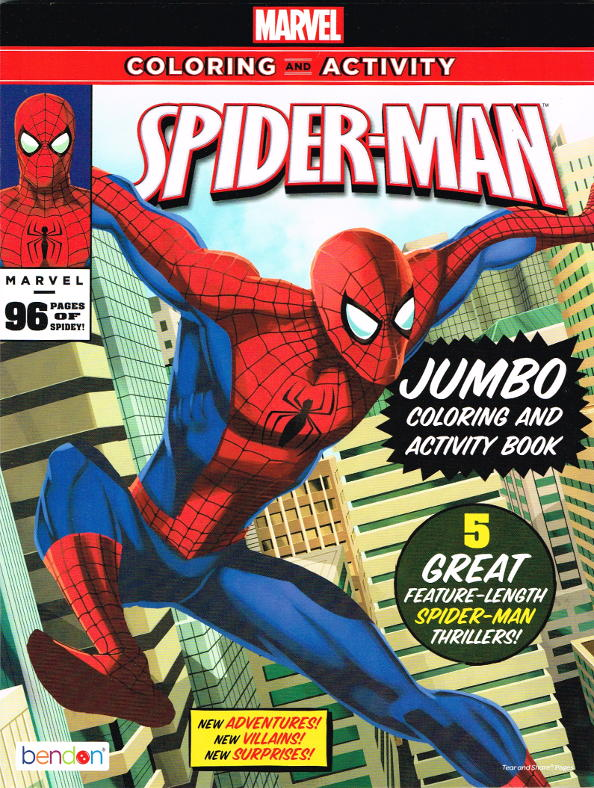 amazing spider man jumbo 96 page coloring story book bendon in