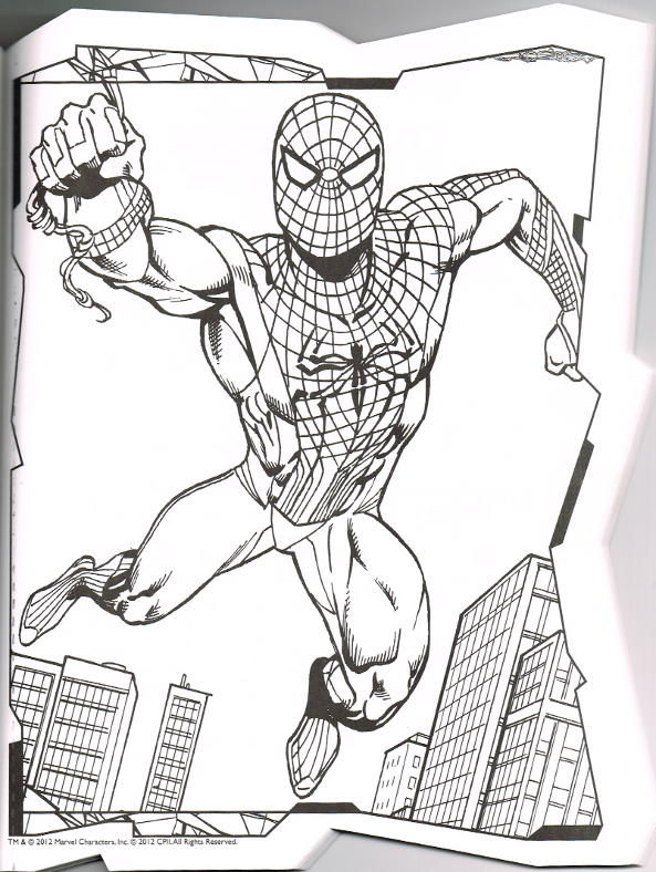 Amazing Spider Man 4 Coloring Page - Free Coloring Pages Online | 788x593