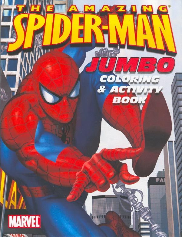 The Amazing Spider Man Jumbo Coloring Activity Book Bendon In Comics Books The Magic Of Color Spiderfan Org