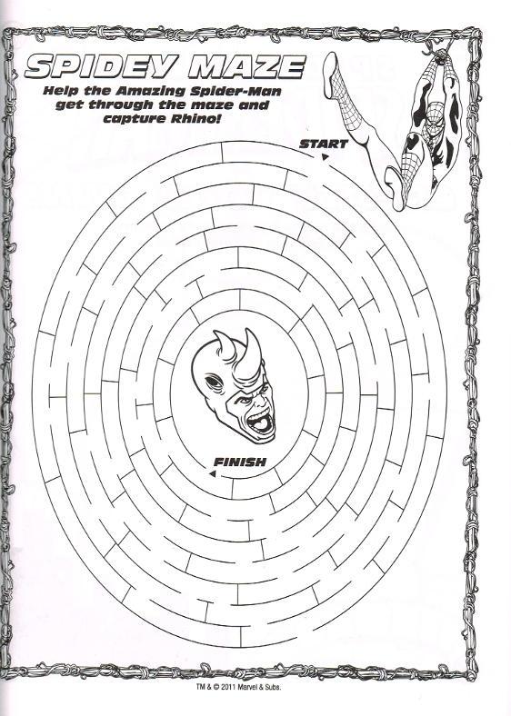 Spider Man Quot Spider Sense Quot 448 Coloring Amp Activity Pages