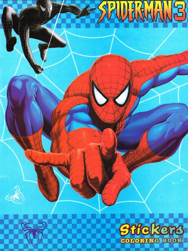 Spider-Man 3 Stickers Coloring Book TS-346 (China) [in Comics ...