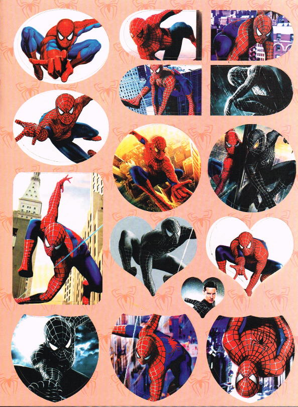 U Coloring Page Spider-Man 3 Stickers ...