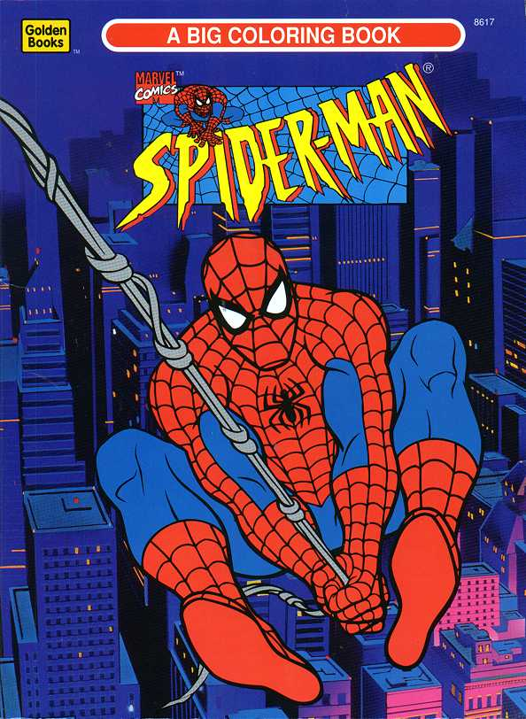 SpiderMan ColorActivity Golden Books in Comics