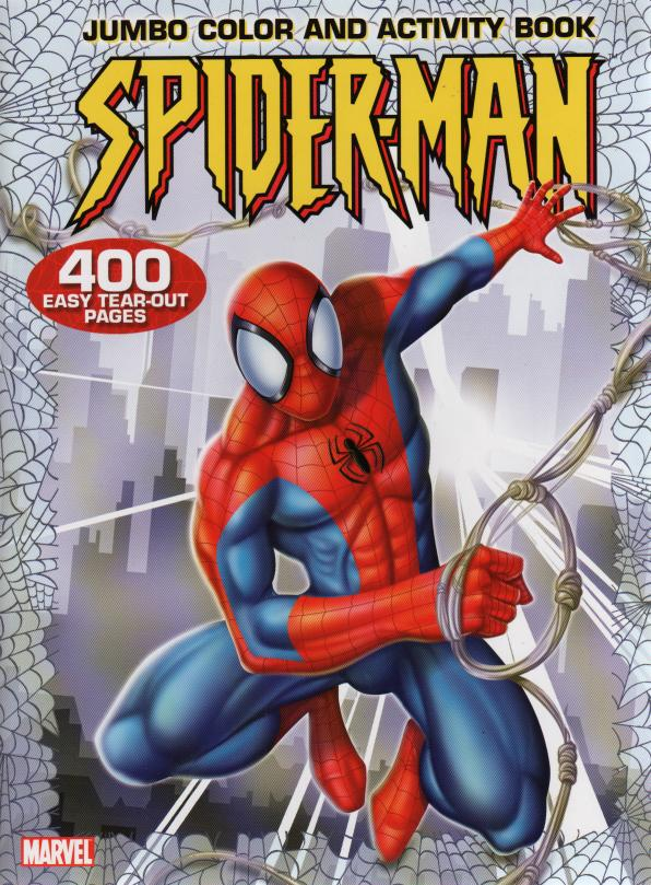 Designed Original Marvel Spiderman Jumbo Coloring and Activity Book