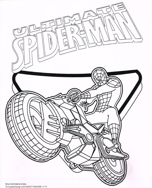 Ultimate Spider Man Coloring Paint Set Tri Coastal Pre Priced